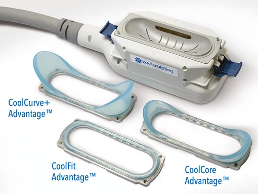 Applicateurs cooladvantage pour la cryolipolyse avec coolsculpting
